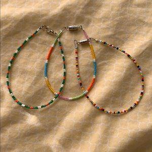 Hand made bracelets and anklets